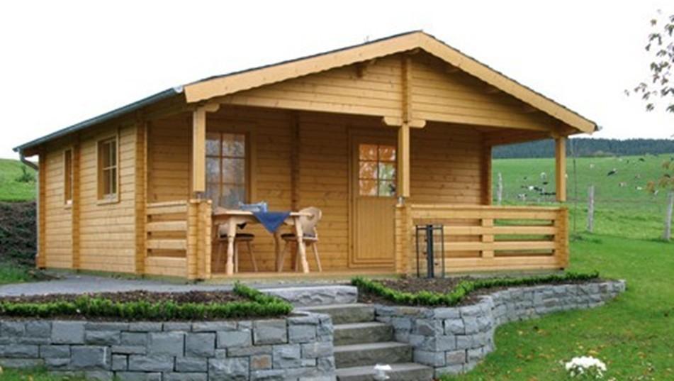 amerika gaya barat tengah prefabrikasi villa rumah kayu