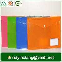 2015 new design plastic pp document bag for car stationery RYX-DE09