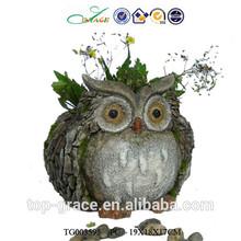 the owl flower pots resin garden big animals