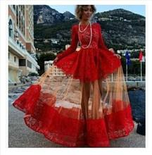 Charming fashion long sleeve sexy dress womens long hallow out Chiffon lace sexy ladies dresses (M40068B)