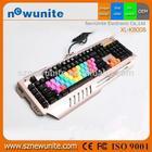 Economic best sell multimedia wired keyboard led backlit
