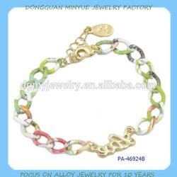 Colorful chian bracelet china wholesale 2015