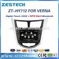 Zestech coche accesorios para Hyundai accent 7 pulgadas doble din dvd del coche para Hyundai accent con GPS de navegación