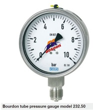 wika 232.50 all stainless steel pressure gauge, liquid filled pressure gauge different types of pressure gauges