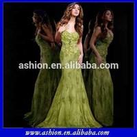 ED-1042 Sweetheart neckline mermaid design olive green evening dresses senior formal dress formal dinner dress for