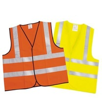 orange polyester reflecting safety vest with high quality