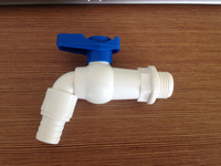 "toilet faucet PVC utility tap for metal and plastic containers Suits 3/4"" threads"