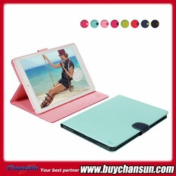 Korea ultral thin sleep wake up function tablet cover for ipad air leather case