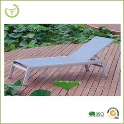 beach sun bed/Aluminum folded beach lounge chair for sale