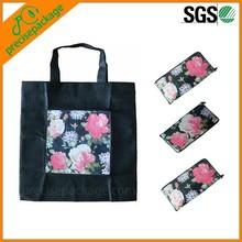 cheap popular easy carrying reusable folding shopping bags