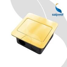 Saip/saipwell nuevo tipo de aleación de cobre de la computadora y el poste 2 receptáculo de suelo