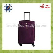 Purple Color Four Wheels Fashion Girls Travel Bag Vintage Trolley Luggage