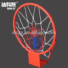 "16"" Steel Children Basketball Hoop In Orange With 10 Hooks"