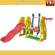 Slide Kids Plastic Novel Design! Kids Amusement The combination of elephant slide ans swing(plastic slide)