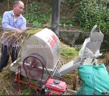Selling mini rice paddy threshing machine / rice and wheat thresher machine with diesel engine