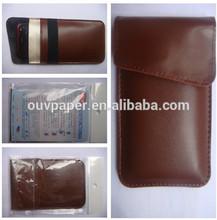 customized pu leather anti-radiation phone bag