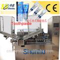 venda quente automática de alumínio do tubo de enchimento e selagem de pomada antibiótica e pasta de dentes