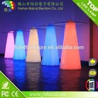 New design color changing led light high bar table