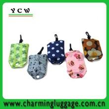 resuable nylon foldable shopping tote bag