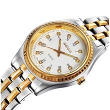 Hot selling brand design W4155 japan movement gold men watch