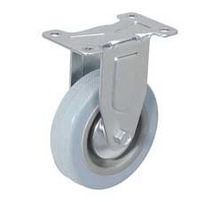 """4"""" Gray rubber fixed caster wheel"""