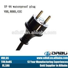 VDE schuko 2-pin IP44 waterproof plugs and sockets