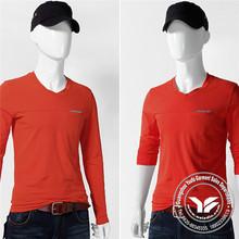 hot sale viscose/cotton trim fitting long sleeve t shirt for men