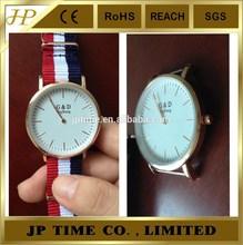 wrist watch shenzhen manufacture gold nato clock wrist watch hot sell nylon wrist watch