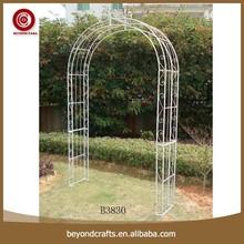 Metal garden white elegant design decoration wedding arch