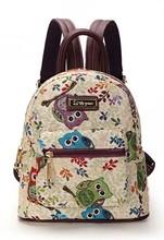 College female bag backpack shoulders wind canvas bag lovely small bag