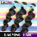 Malásia trama do cabelo virgem grau 7a cabelo solto onda, Trança de cabelo fibra
