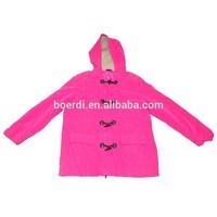 pink windproof woman's short winter coat jacket