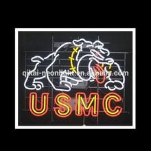USMC dog shape customized handmade Neon sign