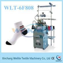 Small knitting machine for knitting socks