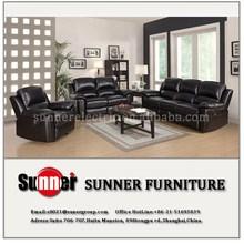 Luxury high quality genuine leather sofa with modern design