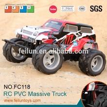 Funny 4WD big wheels off road 1:10 steering wheel control car toy truck
