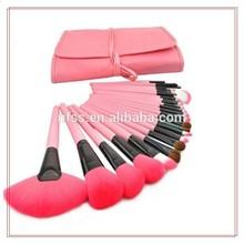 NANFANG 24pcs red cheap makeup brush set cosmetic bag make up brushes
