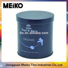 tall sliver round tin box