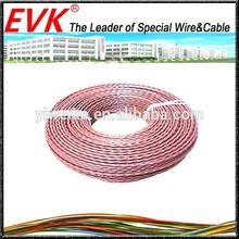 Multi-core teflon insulation and teflon jacket power cable