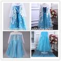 2014 venta al por mayor niños Frozen princesa del vestido de lujo congelado Anna traje Kids Frozen princesa elsa traje
