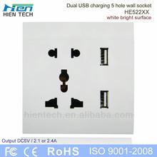 New Arrival USB de carregamento soquete de parede fonte de alimentação com porta USB Interface para tablets celular