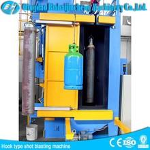 Q37 Automatic pass through hanger type sand peening machine ,hanger type sandblaster