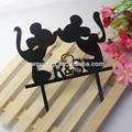 2014 nova linda beijos minnie e mickey mouse acrílico topo de bolo de aniversário de casamento decoração de festa