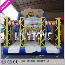 Lilytoys Inflatable racing theme dry slide, amusement park manufacturer