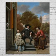 Modern custom printed frameless family portrait oil painting