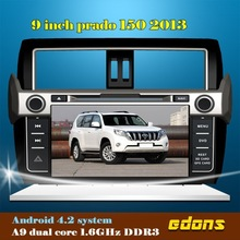 android car double din stereo head unit for toyota prado 150 2013