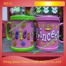 home decoration promotion 3D ABS cup + soft PVC mug cup