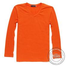 180 grams hot sale 100% organic cotton brand clothing garment long sleeve t shirts