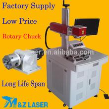 Rotary Gift Engraving Machine For Ring: Logo Laser Print On Metal 10 Watt Portable Fiber Laser Marking Machine Metal