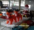grado superior especial al aire libre decoracióninflable santa renos con